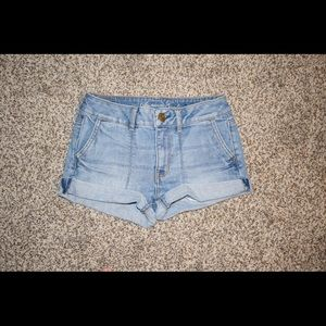 American Eagle Light High Waisted Denim Shorts
